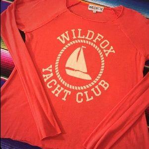 Wildfox yacht club red long sleeve Jesse James